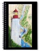 Sandy Hook Lighthouse Nj Chart Map Art Peek Spiral Notebook