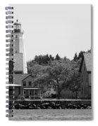 Sandy Hook New Jersey Lighthouse Spiral Notebook