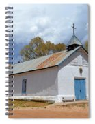 Sangre De Cristo Chapel In Cuartelez In New Mexico Spiral Notebook