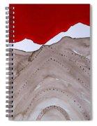 Sangre De Cristo Peaks Original Painting Spiral Notebook
