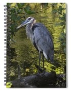 Sanibel Great Blue Heron Spiral Notebook