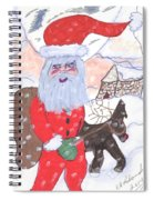 Santa And His Reindeer Spiral Notebook