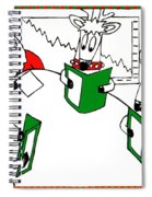 Santa And Reindeer Conference Spiral Notebook