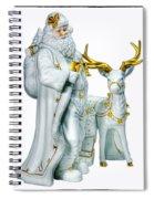Santa And Reindeer Spiral Notebook