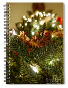 Santa And Sleigh Spiral Notebook