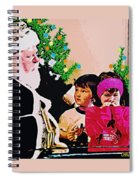 Santa And The Kids Spiral Notebook