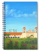 Santa Barbara Mission Spiral Notebook