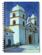 Santa Barbara Mission Moonlight Spiral Notebook
