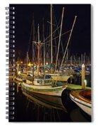 Santa Barbata Harbor Color Spiral Notebook