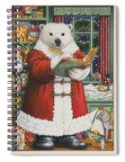 Santa Bear Spiral Notebook
