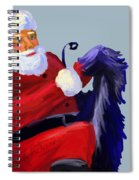 Santa Blue Spiral Notebook