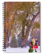 Santa Claus In The Snow Spiral Notebook