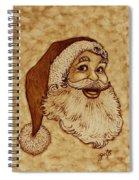 Santa Claus Joyful Face Spiral Notebook