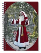 Santa Claus Walt Disney World Oval Spiral Notebook