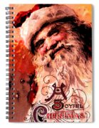 Santa Clause Vintage Poster A Joyful Christmas Spiral Notebook