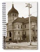 Santa Cruz High School On Walnut Street. Circa 1910 Photo By Besaw Spiral Notebook