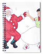 Santa Dances Spiral Notebook