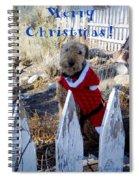 Santa Dog-2 Spiral Notebook