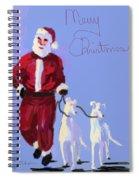Santa Grey Spiral Notebook