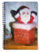 Santa Ho Ho Ho Photo Art Spiral Notebook