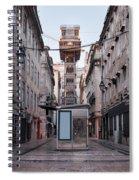 Santa Justa Lift In Lisbon Spiral Notebook
