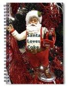 Santa Loves Coke Spiral Notebook