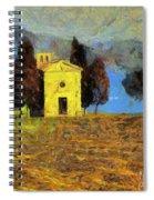 Santa Maria Di Vitaleta Spiral Notebook