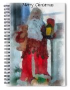 Santa Merry Christmas Photo Art 02 Spiral Notebook