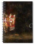 Santa Merry Christmas Photo Art Spiral Notebook