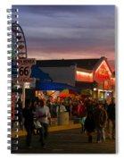 Santa Monica Pier I By Diana Sainz Spiral Notebook