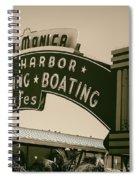 Santa Monica Pier Sign Spiral Notebook
