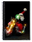 Santa Motoring Spiral Notebook