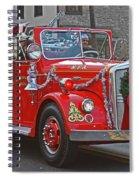 Santa On Fire Truck Spiral Notebook