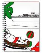Santa On Vacation Spiral Notebook