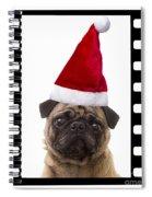 Santa Pug - Canine Christmas Spiral Notebook