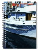 Santa Rosa Purse-seiner Fishing Boat Monterey Bay Circa 1950 Spiral Notebook