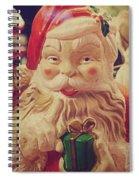 Santa Whispers Vintage Spiral Notebook