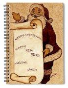 Santa Wishes Digital Art Spiral Notebook
