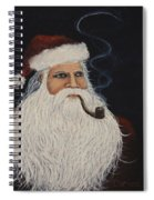 Santa With His Pipe Spiral Notebook
