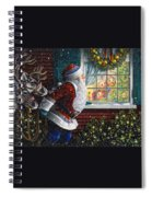Santa's At The Window Spiral Notebook
