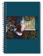 Santa's At The Window Spiral Notebook