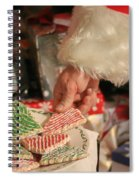 Santas Cookies Spiral Notebook