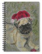 Santa's Little Pugster Spiral Notebook