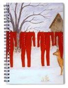 Santa's Long Johns Spiral Notebook