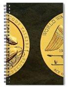 Santee Sioux Tribe Code Talkers Bronze Medal Art Spiral Notebook