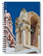Santorini Bell Towers Spiral Notebook