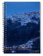 Santorini Greece Spiral Notebook