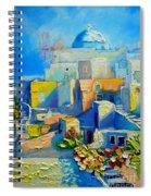 Santorini Light Spiral Notebook