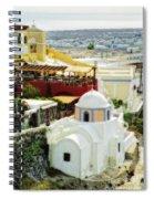 Santorini Overlook Spiral Notebook