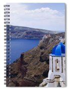 Santorini Panorama 2 Spiral Notebook